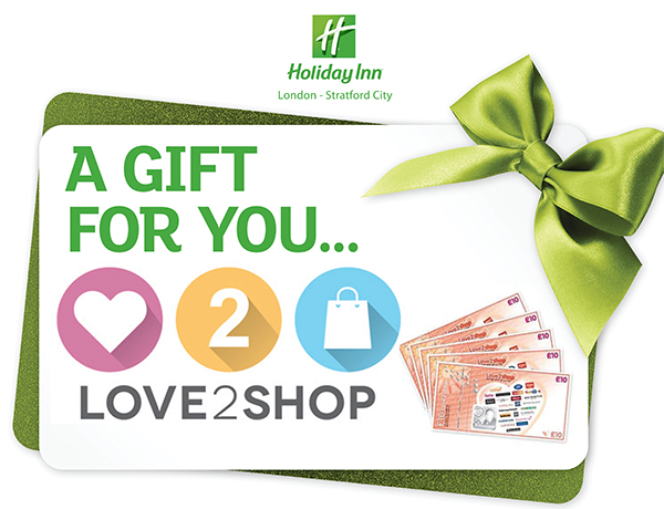 Holiday Inn Stratford Love2Shop Meeting Offer Banner