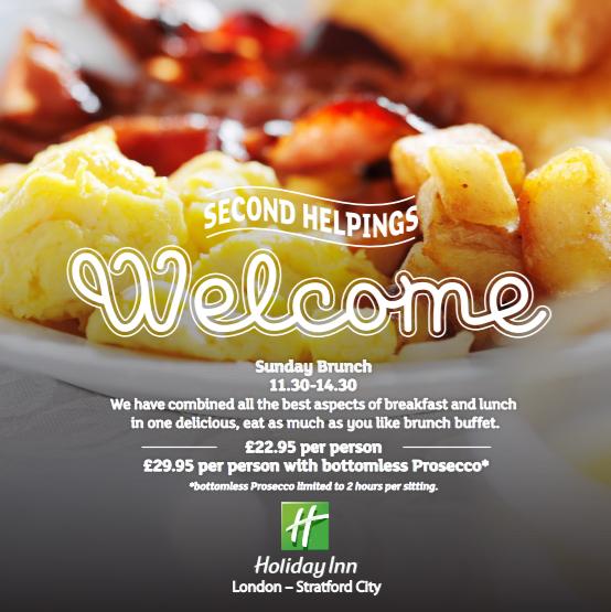 Sunday Brunch at Holiday Inn - London Stratford city